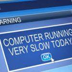 How to fix computer running slow error