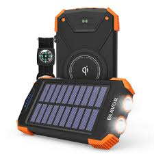 Solar Power Bank Wireless Charger